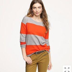 JCrew stripe Saturday sweater